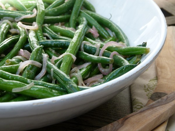 spicy honey-lemon green beans | pamela salzman