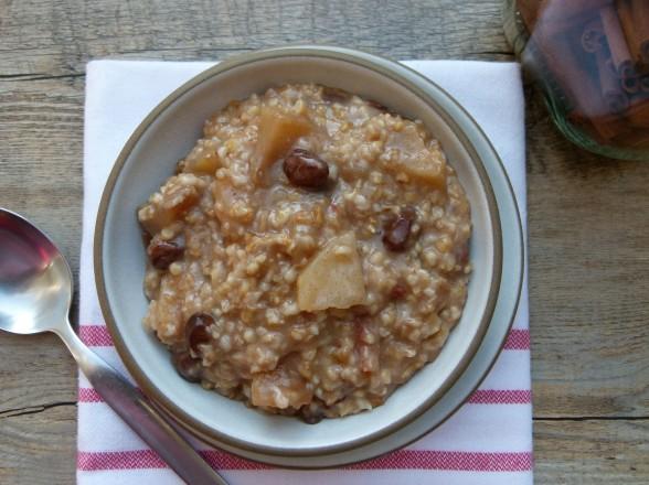 slow cooker apple pie steel cut oats