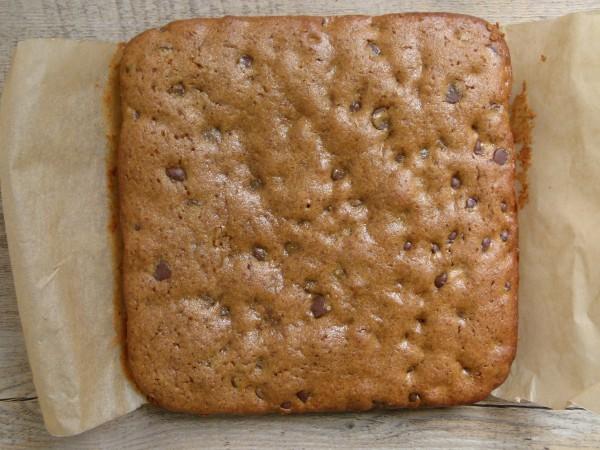 almond butter - millet blondies