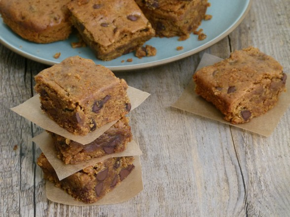 almond butter-millet blondies
