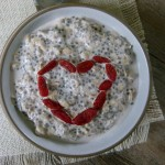 overnight refrigerator oat and chia porridge
