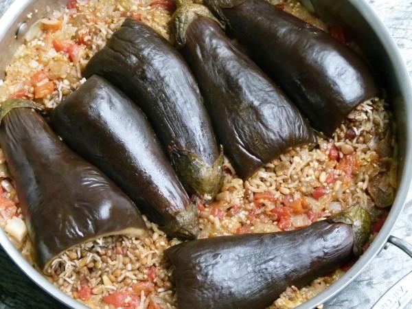 Lentil and Roce-Stuffed Baby Eggplants | Pamela Salzman