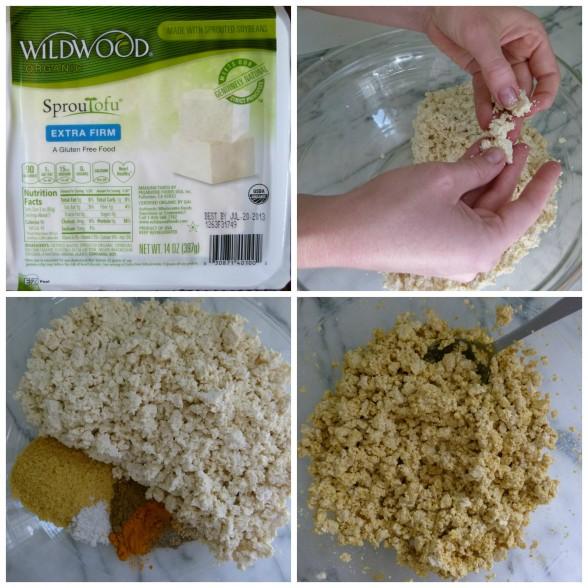 making the tofu mixture