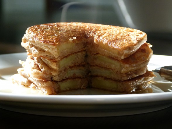 apple-dipped pancakes | pamela salzman