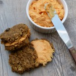 vegan pumpkin oatmeal spice cookies with sweet potato cream cheese frosting | pamela salzman