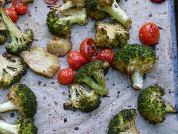 balsamic-roasted broccoli and cherry tomatoes | pamela salzman