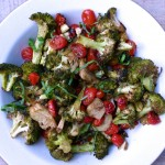 balsamic-roasted broccoli and cherry tomatoes | pamela salzman