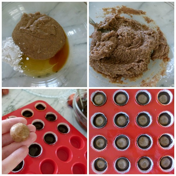 almond butter cups in the making