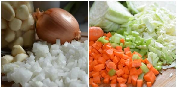veggies prepped