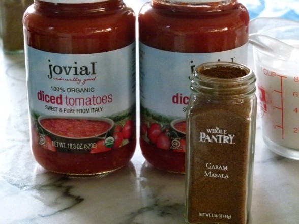 garam masala and jarred tomatoes