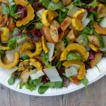 delicata squash and apple salad