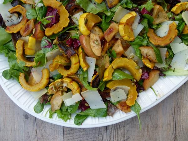 delicata squash and apple salad | pamela salzman