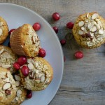 cranberry-orange almond flour muffins