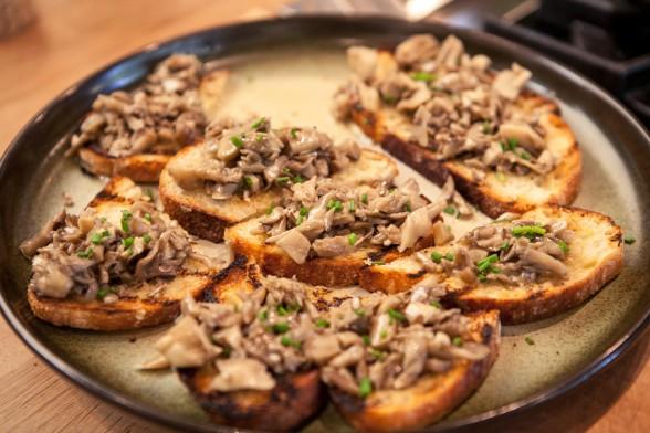 Hen of the Woods Mushroom Toast