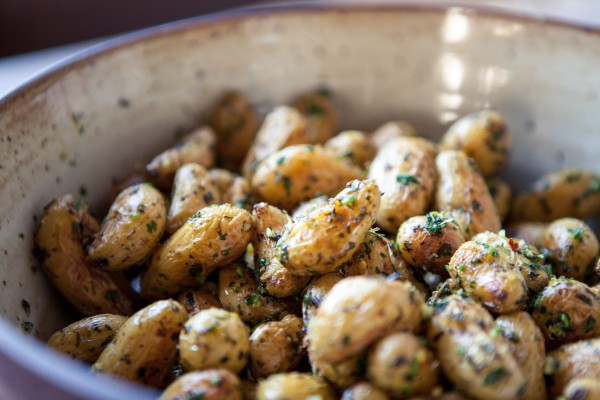 roasted fingerling potatoes with gremolata |  pamela salzman