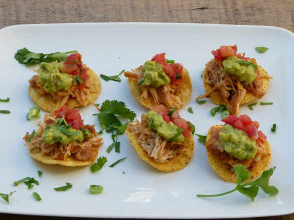 mini chicken tostadas