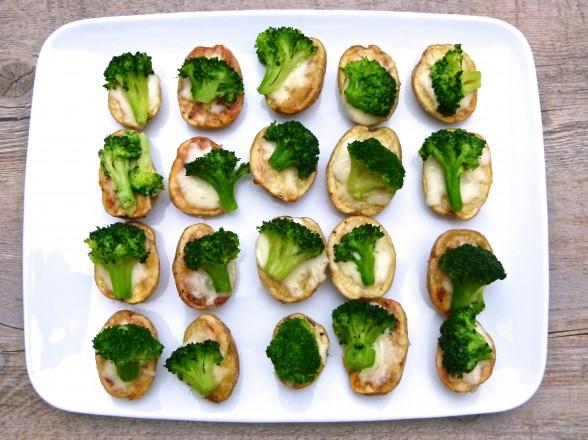 mini potato broccoli cheese bites