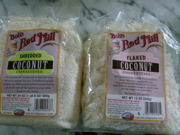 two different types of coconut