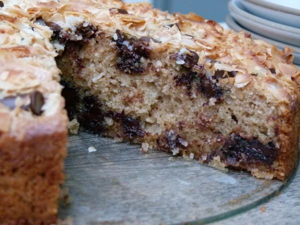 coconut coffeecake with chocolate chunks | pamela salzman