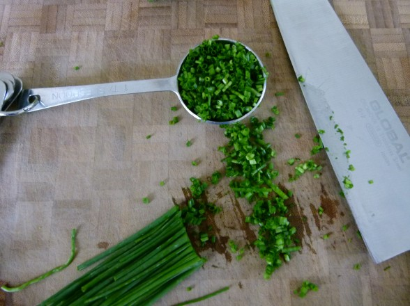 mince the herbs