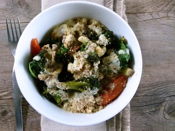 Roasted Vegetable Buddha Bowl with Lemon-Tahini Dressing Recipe ...