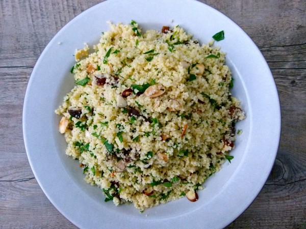 couscous with dried apricots and herbs