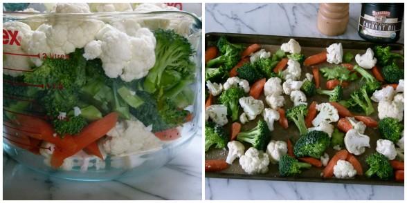 Vegetables reading for roasting