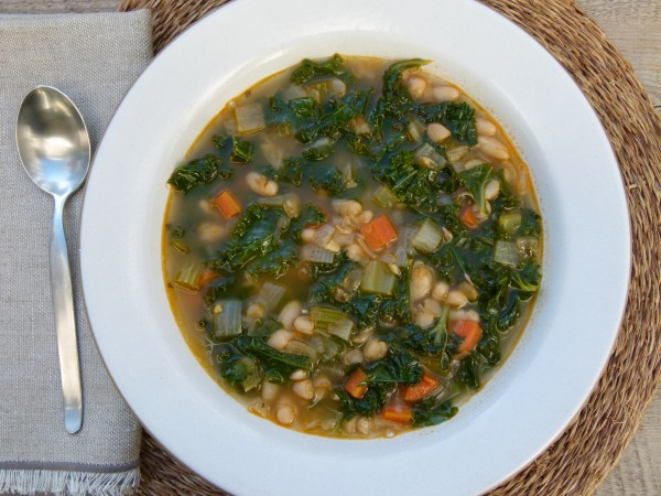 white bean and kale minestrone | pamela salzman
