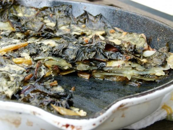 Swiss chard and potato gratin