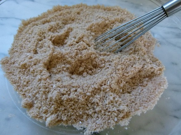blanched almond flour and dry ingredients