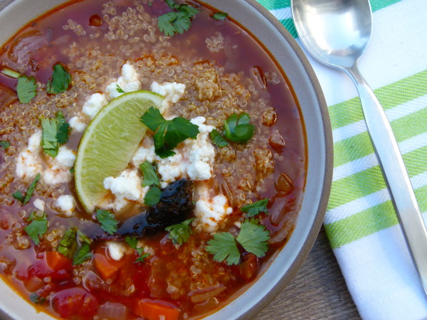 Caldo Tlalpeno Soup with a twist | Pamela Salzman