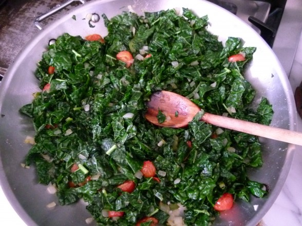Mexican-style sauteed greens