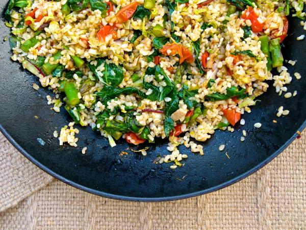 Italian Fried Rice made with brown rice and seasonal veggies | Pamela Salzman