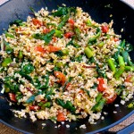 Italian Fried Rice with brown rice and veggies