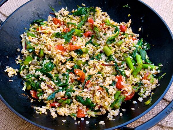 Italian Fried Rice with brown rice and veggies | pamela salzman