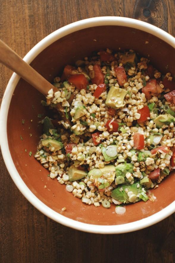 Charred Corn Salad with Tomato and Avocado