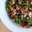 lentil and grilled eggplant salad recipe