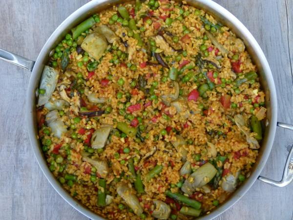 vegetable paella   pamela salzman