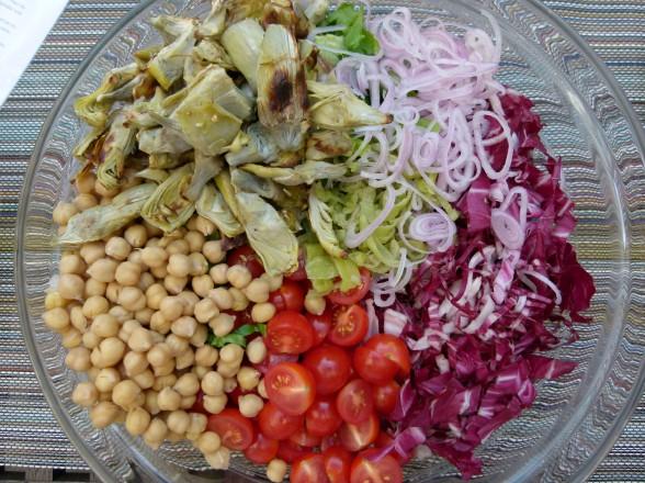 veggies for the salad