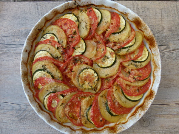 roasted summer vegetable tian | pamelasalzman.com