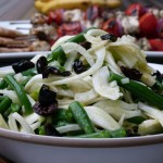 fennel and green bean salad with olives