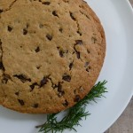 whole grain olive oil cake with rosemary and dark chocolate