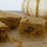 whole wheat pumpkin chocolate chip bars (refined sugar-free)