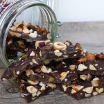 dark chocolate bark for gift-giving