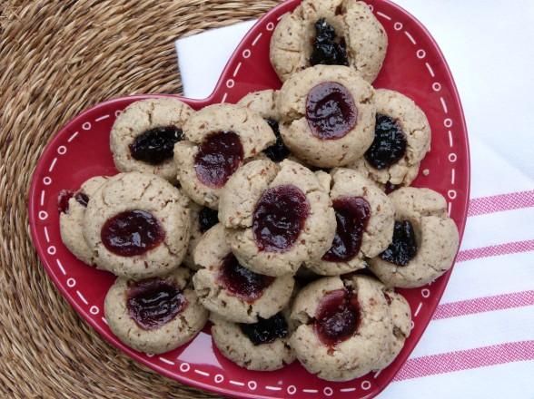 whole wheat-almond thumbprint cookies recipe (vegan) | Pamela Salzman ...