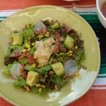 fiesta salad with salsa vinaigrette | pamela salzman