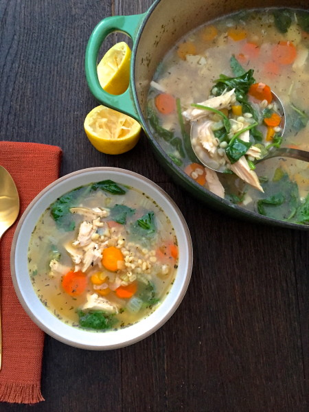 Lemon Turkey and Barley Soup Recipe | Pamela Salzman & Recipes