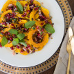Roasted Delicata Squash with Pomegranate-Pistachio Relish Recipe