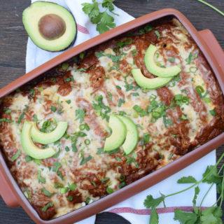 chicken enchiladas with homemade enchilada sauce | pamela salzman