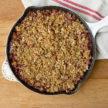 Strawberry-Rhubarb Cornmeal Crisp Recipe (no refined sugar added)